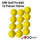 12pcs A99 Golf Elastic PU Ball Training Aid Practice Balls Foam ball Yellow