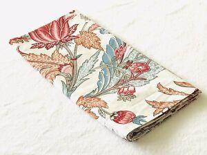 Pottery Barn Lolita Jacobean Butterfly Floral Red Teal Orange Euro Sham ~ EUC