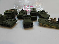 MATCHBOX LESNEY LOT OF 7 LOOSE - MILITARY JEEP SWAMP RAT WEASEL MADE IN  ENGLAND
