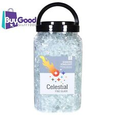 """Ultra Clear, 1/2"""" Tempered Fire Glass in Diamond Starlight 