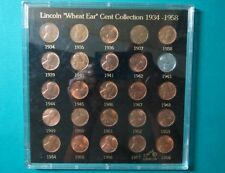 """>1934-1958  LINCOLN """"WHEAT"""" CENTS COLLECTION, 25 Brilliant Coins in Capital Case"""
