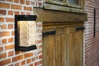 IP54 Rectangular Traditional Glass LED Wall Light Outdoor Garden Porch Door
