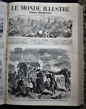 LE MONDE ILLUSTRE,FASCICOLO 117 - 9 LUGLIO.1859 8 FOGLI,XILO.RISORGIMENTO.ITALIA
