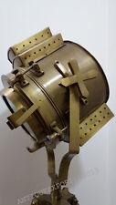 Collectable Designer's Antique Brass Floor Lamp Spot Light Brown Tripod