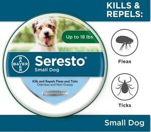 Seresto 8 Month Flea & Tick Prevention Collar for Small Dogs_Freeship!!