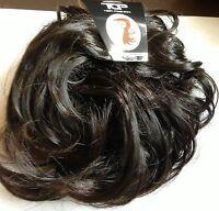 Hair Piece Messy Bun scrunchie wrap synthetic updo hairpiece Dark Brown #4