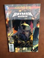Batman And Robin: Futures End #1 (2014) 9.4 NM DC Key Issue Lenticular Cover