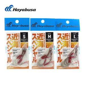 Hayabusa FS451 Assist Hooks Double Jig Hooks High Strength Jigging Fishing