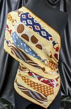 "Lovely ECHO  Mellow banana toffee jam Ties Colours Pure Silk Scarf 58"" x 11"""