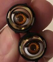Doll Sleep Moving Eyes 8mm Brown Vinyl Doll Eyes Replace Repair Fix Doll Making