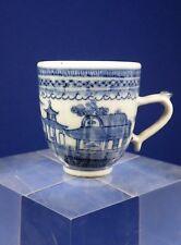 Antico 18th secolo cinesi all'esportazione Blue & Tazza di porcellana bianca