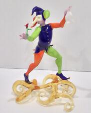 LUCIO BUBACCO Glass Sculpture - RARE Harlequin Commedia Dell'arte Venice SIGNED