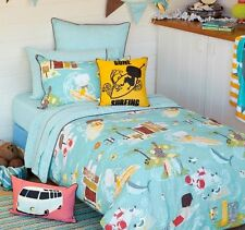 Hiccups by Linen House Wipe Out Single Bed 225 Thread Count Quilt Cover Set New