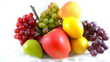 Artificial Fruit Display 11 Pieces Apples Grapes Lemons Pears Home Decor Lot #2