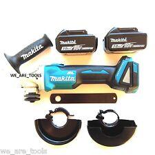 Makita XAG03 18V Brushless Angle Grinder, (2) BL1830 Batteries 4 1/2 18 Volt LXT