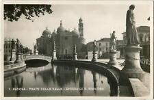 1943 Padova - Prato della Valle, Chiesa di Santa Giustina, statue - FP B/N VG