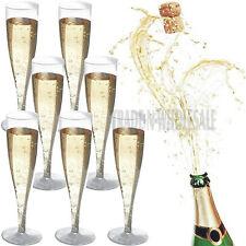50 PLASTIC CHAMPAGNE FLUTES, CHAMPAGNE GLASSES, WEDDING, DISPOSABLE