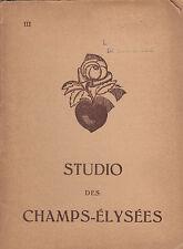 "PROGRAMME THEATRE STUDIO DES CHAMPS-ELYSEES 1935 ""MARTINE"" & ""INTIMITE"""