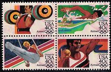 Scott C105-C108 Used Block of 4 Airmail, 1984 Summer Olympics