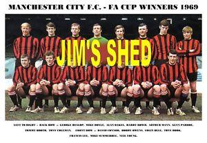 MANCHESTER CITY F.C. TEAM PRINT 1969 - F.A.CUP WINNERS