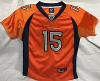 Reebok Tim Tebow Denver Broncos SEWN Jersey Sz Youth Large NFL Football Mets
