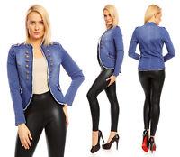Mayaadi Damen Sexy Military Uniform Jacke Admiral Blazer Blogger Mantel 2373