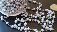 Cadena cuentas cristal Rosario 6mm AZUL TORNASOLADO collar (CAD-23) pulseras