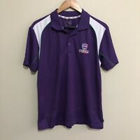 Fremantle Dockers Vintage Logo AFL Football Polo Shirt Purple Mens Small