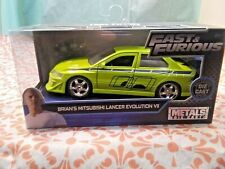 Fast & Furious Brian's Mitsubishi Lancer Evolution Vll Green Diecast 1:32 Scale