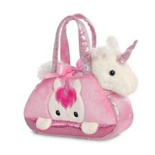 Unicorn Soft Toy 20cm Plush Teddy Girl Pink in Bag Aurora Fancy Pal Peekaboo