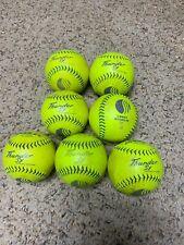 Lot of 7 Dudley Thunder Adult Softballs - Thunder Sx Stadiums Very Hard Ball