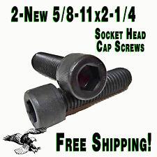 "2- New - 5/8-11x2-1/4"" Socket Head Allen Cap Screw Black Oxide bolt SHCS Nice."