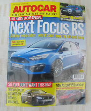 Autocar 8 July 14.Next Focus RS,Aston V12 Roadster,BMW i8,Nissan Pulsar.UK P&Pin