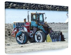 FARM TRACTOR DIGGER LOADER CANVAS PICTURE PRINT WALL ART 6415