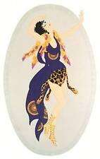 "ORIGINALE VINTAGE Erte Art Deco Print ""Bacchante"" FASHION BOOK Piastra"