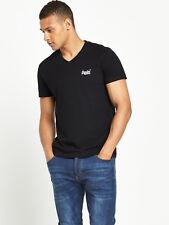 Superdry Orange Label Vintage V-Neck T-Shirt - Mens - Size: Small