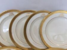 EXQUISITE MINTON PORCELAIN MONOGRAMED DINNER PLATES