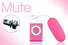 Waterproof Portable Wireless MP3 Vibrators Remote Control Vibrating Egg Pink