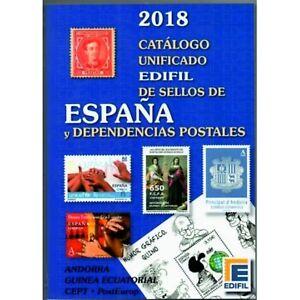 Catálogo Edifil Unificado Sellos de España y Dependencias postales Edición 2018