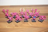 Warhammer Chaos Daemons Pink Horrors of Tzeentch including Command x 10 - Metal