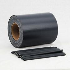 35m anthrazit PVC Sichtschutz Streifen Zaunfolie Doppelstabmatten Stabmattenzaun