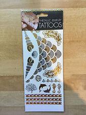 Metallic Golden Temporary Jewelry Tattoos  UK Seller Job Lot Clearance 20 packs