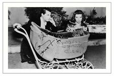KATHARINE HEPBURN + CARY GRANT BRINGING UP BABY SIGNED PHOTO PRINT AUTOGRAPH