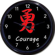 "Japanese Kanji Bamboo Clock Joy, Love,Peace, Hope ,Happy, Grace Japan New 10"""