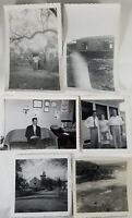 Lot of 6 Vintage Collectible Photos 1950's? B&W Trip to the Outhouse Church +