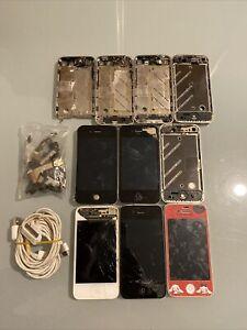 Lot D iPhone 4 Et 4S HS Pour Pièces Ou A Réparer Et Diverses Pièces Cadres Etc..