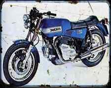 Ducati 860Gts 74 A4 Metal Sign Motorbike Vintage Aged