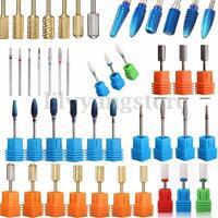 Pro Ceramic Carbide Nail Drill Bit Tool Rotary File Manicure Pedicure 3/32 Shank