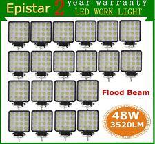 20X 48W Flood LED Off roads Work Light Lamp 12V 24V Cars boat Truck Driving UTE