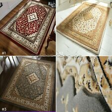 SMALL- LARGE ORIENTAL TRADITIONAL CLASSIC CARVED 3D THICK DENSE HEATSET PILE RUG